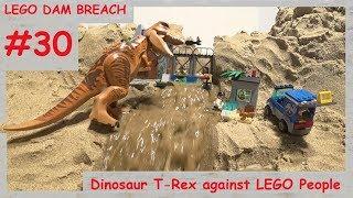 LEGO DAM BREACH #30 - DINOSAUR T-REX AGAINST LEGO PEOPLE