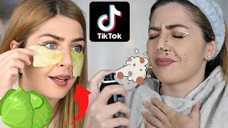 ⛔TEST!  MASK al CAVOLO🥬, LENTIGGINI finte 😱 #tiktok #beautyhacks #mashup