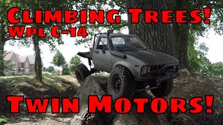 $40 Crawler Climbs a Tree! Upgraded Dual Motor WPL C14 fits C24
