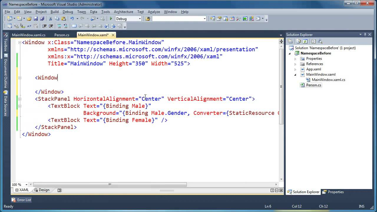 Using IValueConverters to change data types in WPF