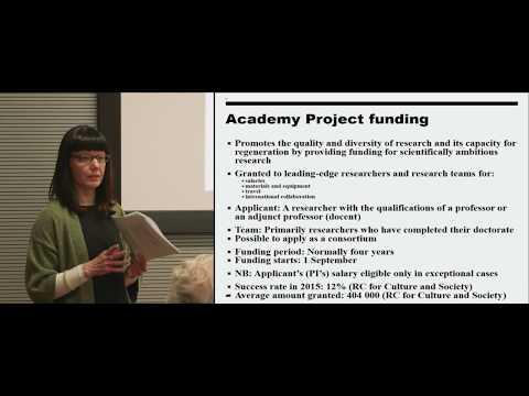 Academy of Finland Funding Seminar 15.5.2017