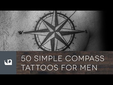50 Simple Compass Tattoos For Men - YouTube