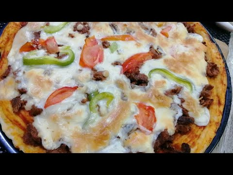 صورة  طريقة عمل البيتزا طريقه عمل بيتزا بالشاورما وطريقه عمل الشاورما بالفديو السابق الطريقه في الفديو🥰وصندوق الوصف طريقة عمل البيتزا من يوتيوب