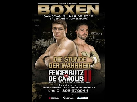 WBA World Super Middleweight - Giovanni De Carolis VS Vincent Feigenbutz 2 (Cicalone Prod.)