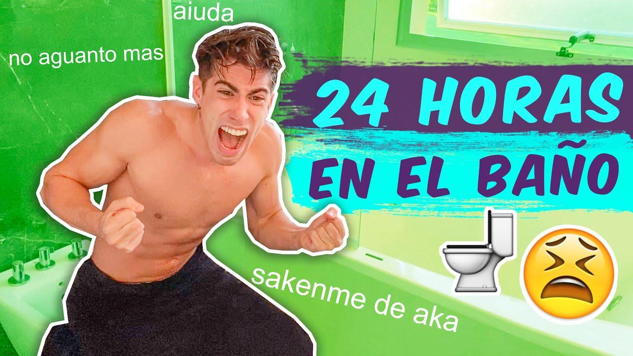 24 HORAS ENCERRADO EN EL BAÑO !!
