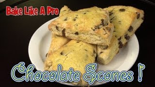 How To Make Chocolate Scones (biscuits) - Video Recipe