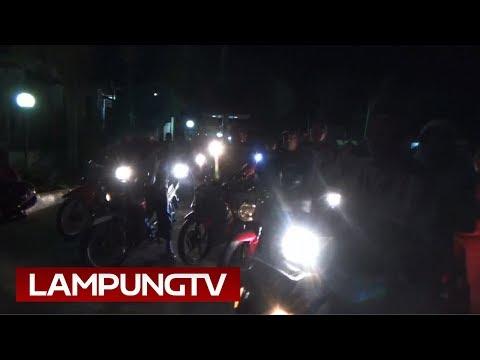 Panwaslu Bakauheni Konvoi Motor di Malam Jelang Coblos Pemilu