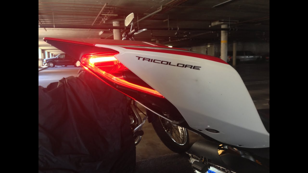 Small License plate holder with LED turn signals for Ducati Panigale & Small License plate holder with LED turn signals for Ducati Panigale ...