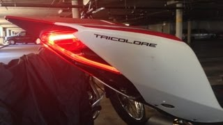 Small License Plate Holder With Led Turn Signals For Ducati Panigale