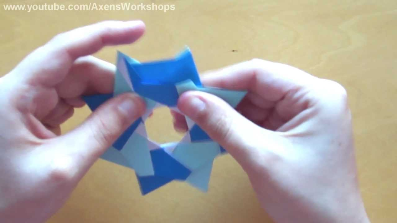Christmas origami instructions hex star maria sinayskaya youtube - Origami Robin Star Maria Sinayskaya