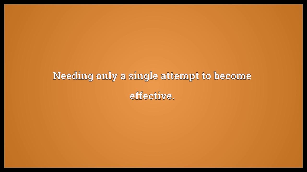 One shot Meaning | Wordogram - YouTube