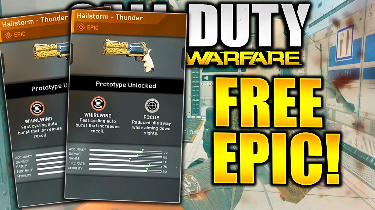 Free Epic Weapon Infinite Warfare Hailstorm Thunder Epic Gun In