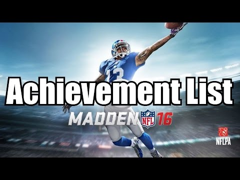 Madden NFL 16 Achievements List RELEASED!