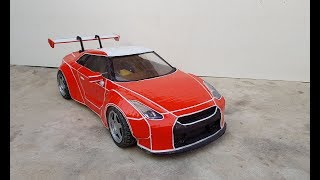 Amazing Nissan gtr R50 skyline || how to make Nissan gtr out of cardboard