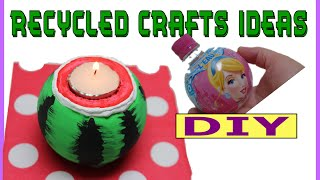 Recycled Bottles Crafts Ideas: Watermelon Candle Holder