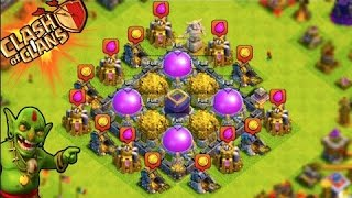 BEST TH9 OVERALL FARMING ATTACK STRATEGY WITHOUT HERO AND CLAN CASTLE!!!