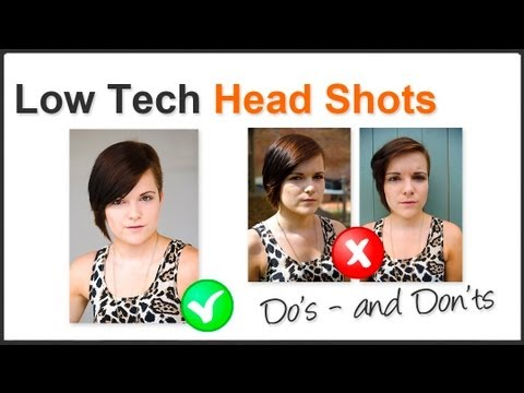 Photography Tip - Shoot Professional Looking Head Shots At Home