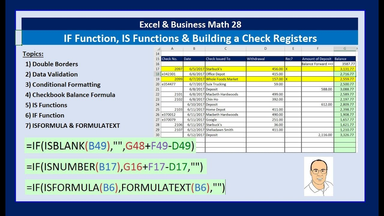 excel business math 28 if function is functions building a