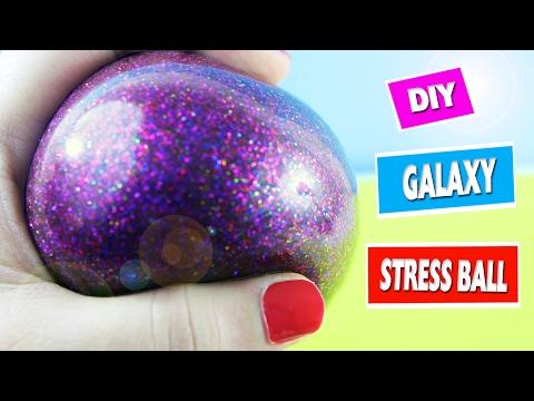 🔮 How To Make Galaxy Squishy Stress Ball - Simplekidscrafts