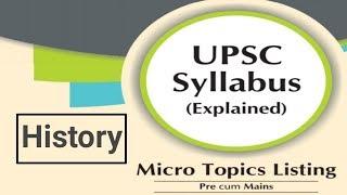 History upsc(cse) IAS full syllabus micro-subtopics