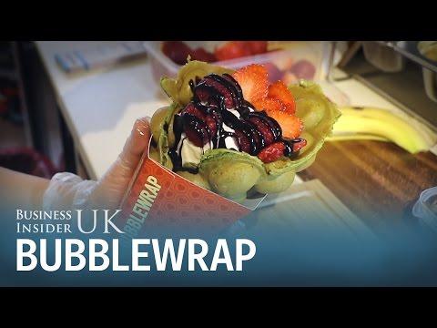 Bubblewrap waffle cone shop in London