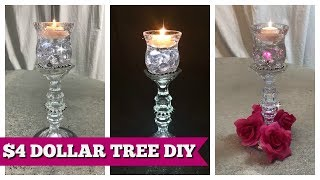DIY DOLLAR TREE HOME DECOR $4 CANDLE HOLDER