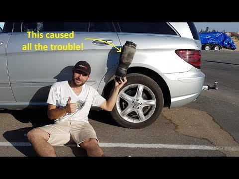 Replacing A Mercedes Air Suspension In A Hotel Parking Lot
