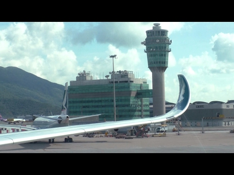 Cathay Pacific A350 Economy Full Flight from Hong Kong to Taipei