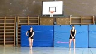 Gymnastik und Tanzprüfung Handgerät Seil