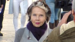 Hollywood Legend Leslie CARON in Paris France 12 november 2015 novembre