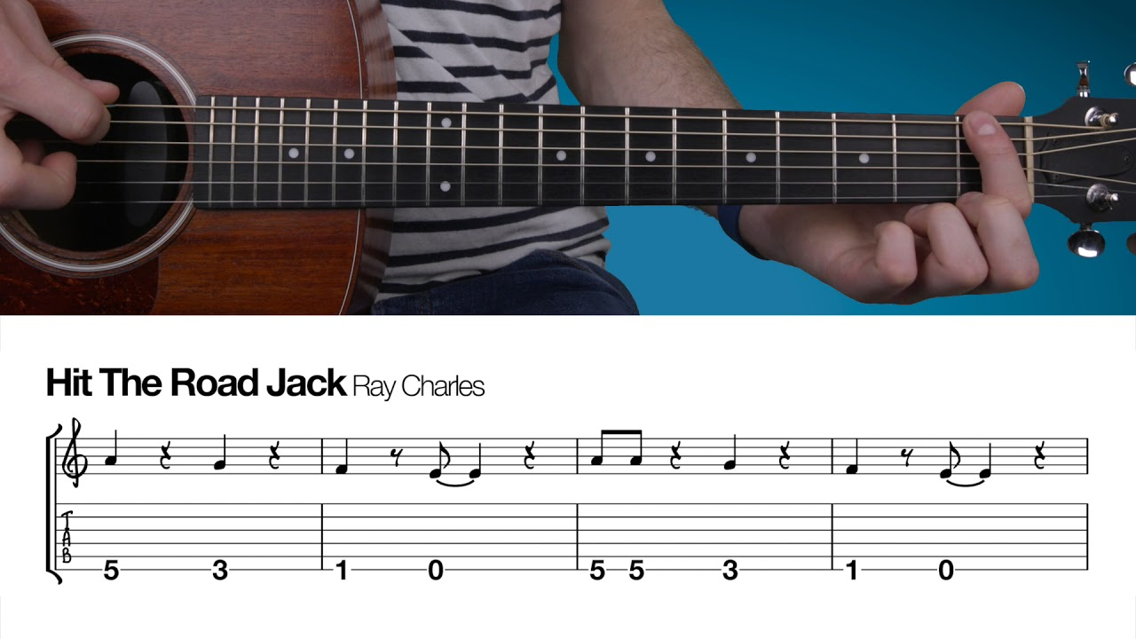 Hit The Road Jack   Beginners Guitar Lesson