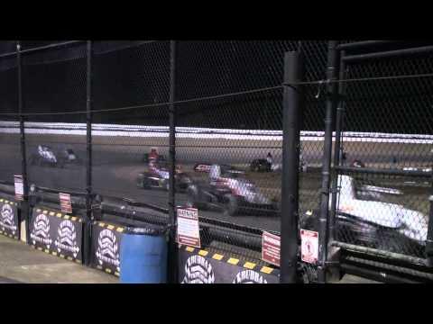 USAC Sprints 3 Wide Salute Ocala ( Bubba ) Speedway Thursday Feb 9 2012