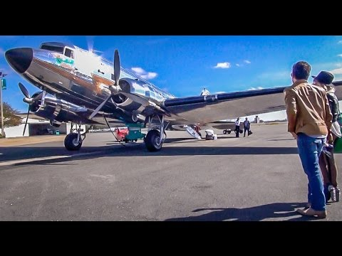 Amazing Flight on a Vintage DC-3 (HD Video)