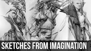 Sketching from Imagination | Pencil Timelapse + Chat
