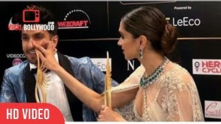 Deepika Padukone Funny Moment With Ranveer Singh IIFA 2016 Madrid