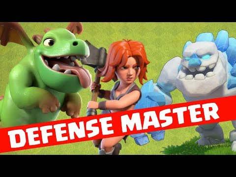 BEST WAR DEFENSE COMBINATION IN CLASH OF CLANS ,CLASH OF CLANS INDIA- COC