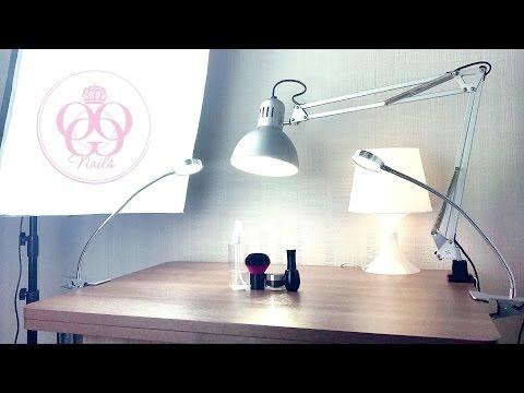 Освещение на рабочем столе  мастера маникюра💜ДИЗАЙН💜Хотела подстричься налысо!