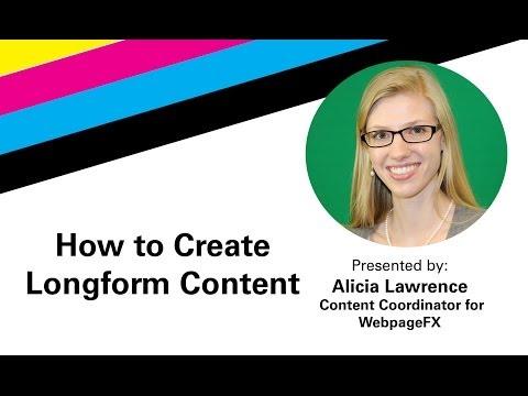 How to Create Longform Content