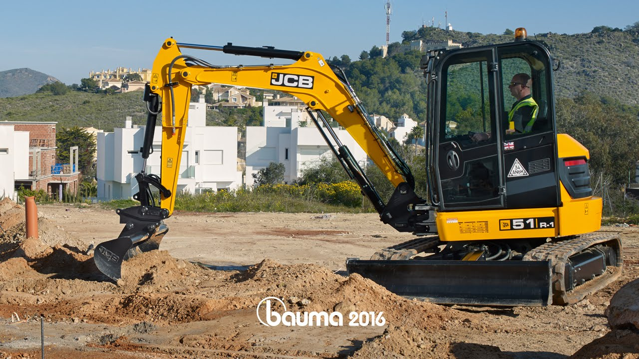 bauma 2016 nouvelles mini pelles jcb de 4 6 tonnes youtube. Black Bedroom Furniture Sets. Home Design Ideas