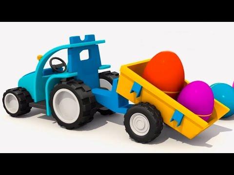 3d мультик про  Экскаватор Масю и яйцо с сюрпризом. Собираем Вертолет из конструктора