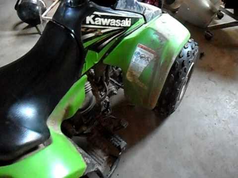 Kawasaki kfx 80 - YouTube