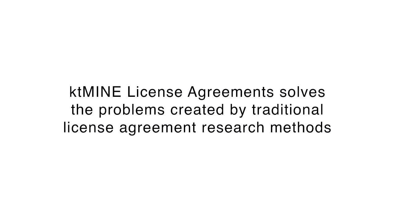 Ktmine License Agreements App Intro Youtube