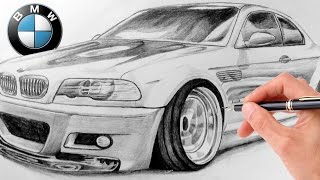 How to Draw Realistic: BMW M3 E46