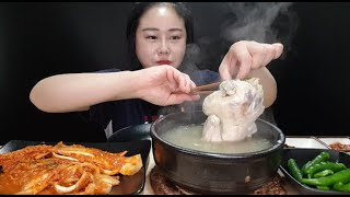 복날먹방:) 🔥이열치열🔥 뜨끈한 삼계탕! 금치 4단계 독하게 매운맛이랑 든든하게 먹방 samgyetang (chicken soup with ginseng) mukabng