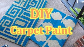 DIY how to paint the carpet