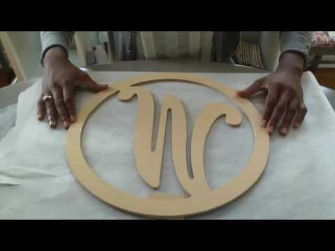 Painting Wood Letters with Viva Decor Inka Gold