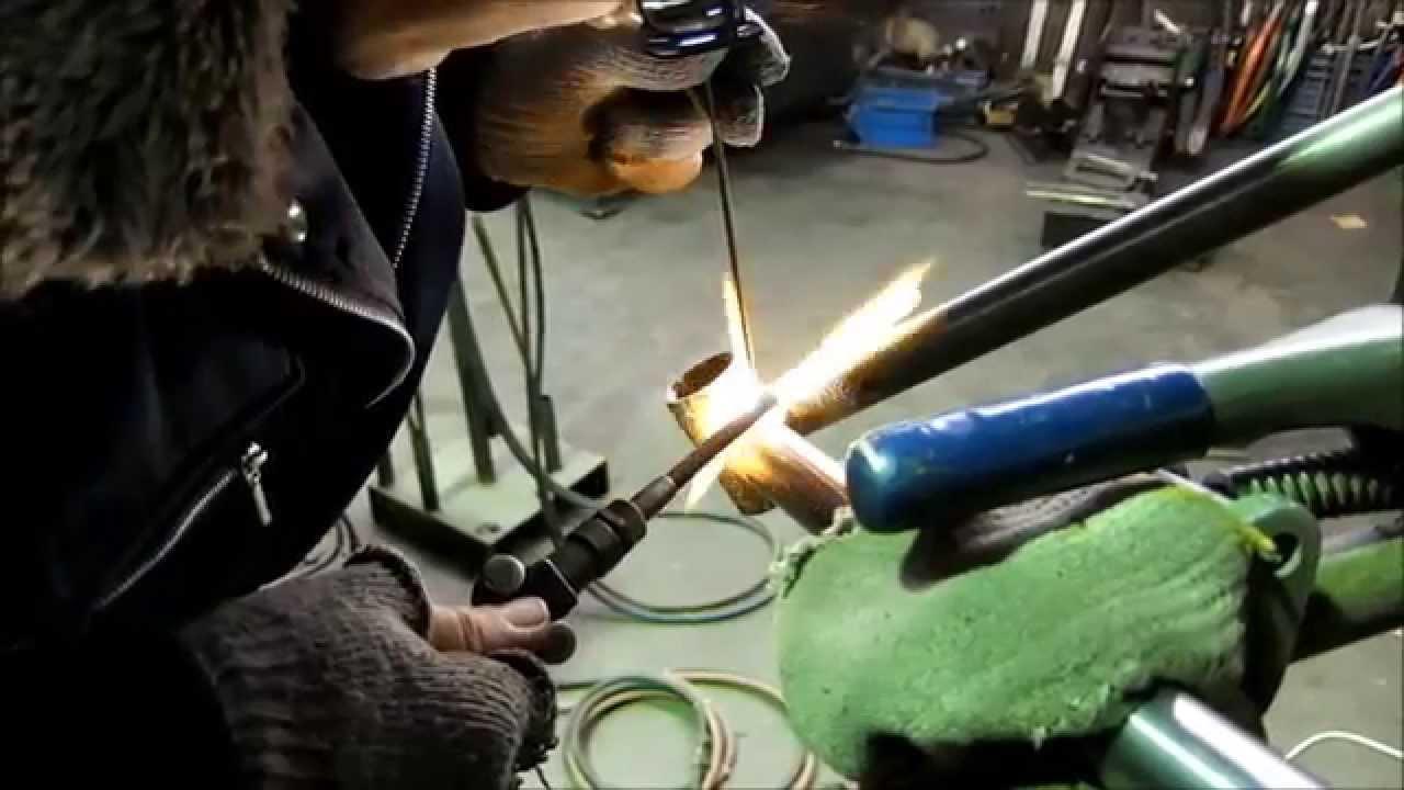 Fillet brazing - YouTube
