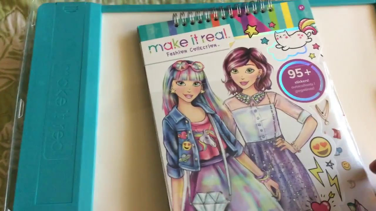 Make It Real Fashion Design Drawing And Coloring Set W Light Table Review Youtube
