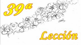 APRENDE A DIBUJAR! 39 ª Lección - Flor de almendro/Let