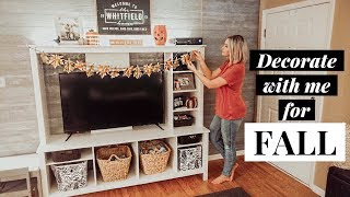 DECORATE WITH ME FOR FALL! | AUTUMN + HALLOWEEN DECOR!